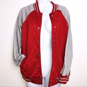 NWOT Red and grey letterman jacket athletic